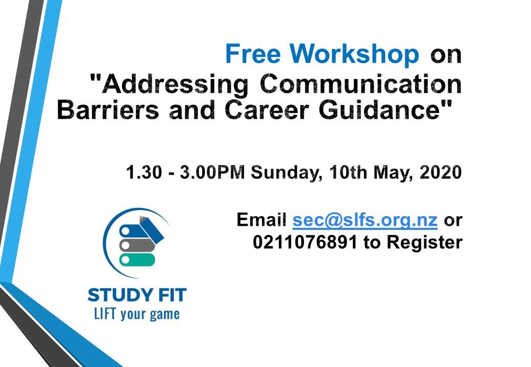 Free Workshop on Communication Barriers and Career Guidance